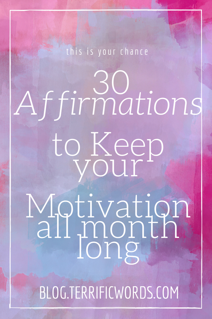 30 days of positive affirmations