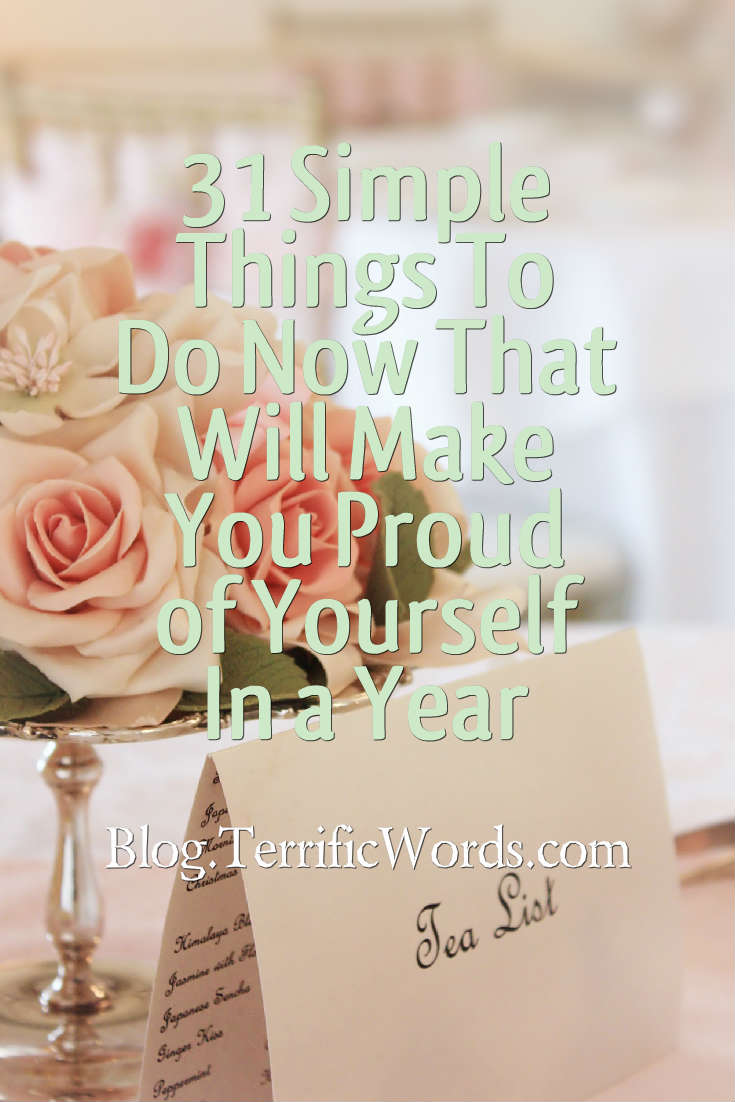 Today you have the power to change your health, finances and the environment and still be proud in a year!