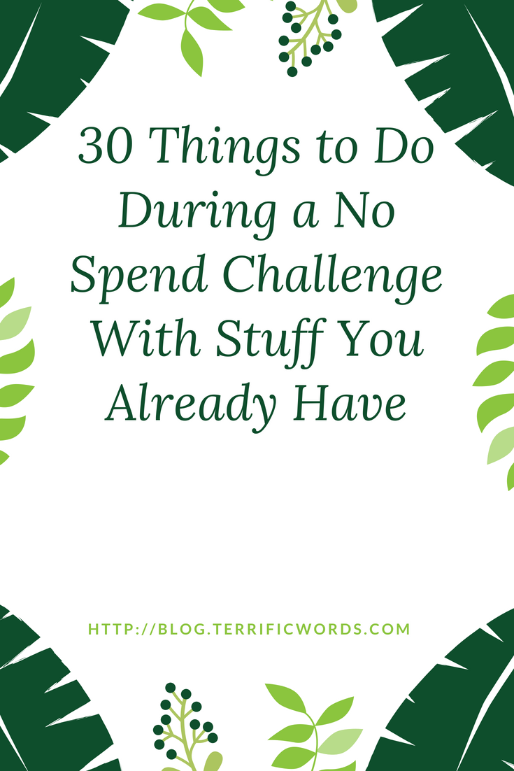 Not sure what to do during a No Spend challenge? The key to survival is focusing on things you do have instead of the things you can't buy.