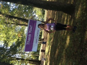 Proud of running my first 5k in support of March of Dimes