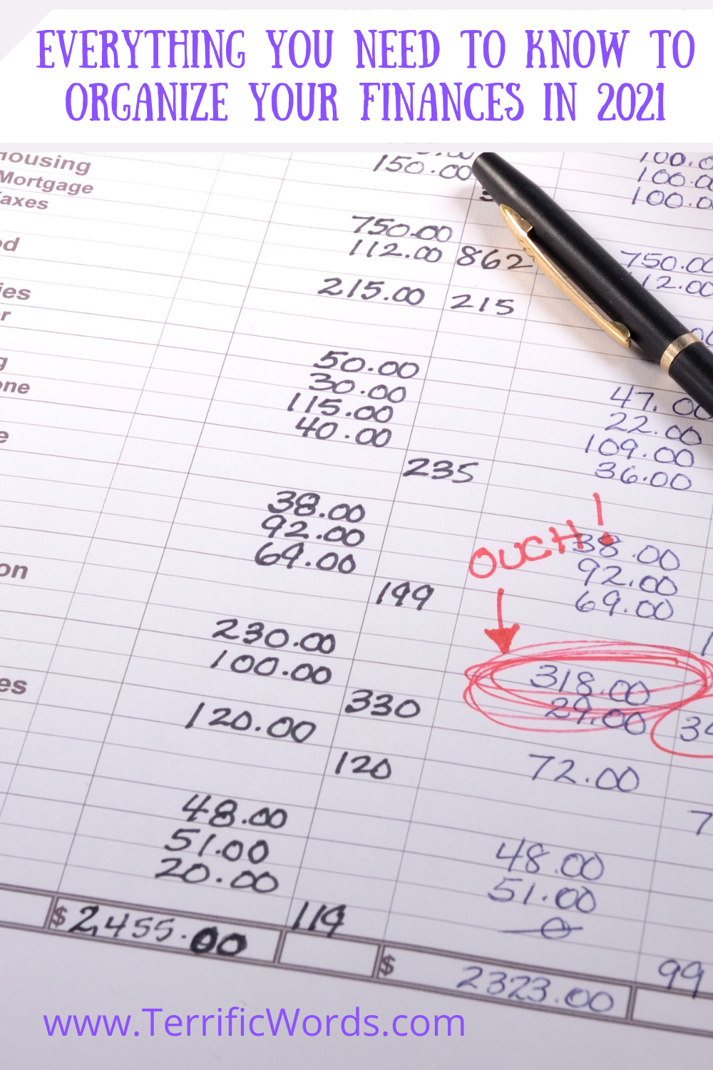 Everything You Need to Know to Organize Finances in 2021